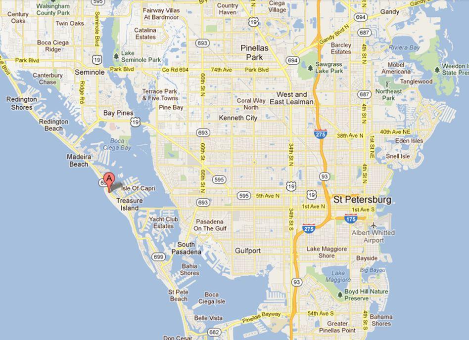Treasure Island Florida Map Related Keywords Amp Suggestions